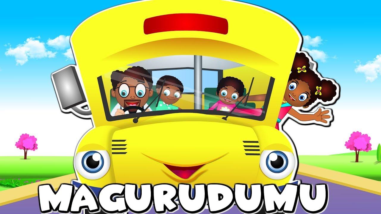 Download SWAHILI Wheels on the Bus | Magurudumu ya Basi Yazunguka | Katuni Nyimbo za Watoto Kiswahili