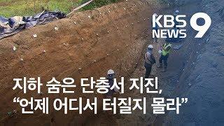 지하 숨은 단층서 지진, 언제 어디서 터질 지 모른다 / KBS뉴스(News)