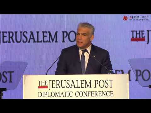 Chairperson of Yesh Atid MK Yair Lapid at the 2017 Jerusalem Post Diplomatic Conference
