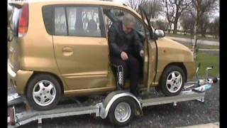 GROUND LOADING PNEUMATIC SUSPENSION CAR TRAILER