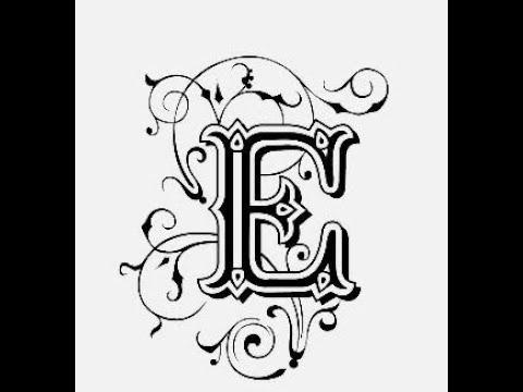 طريقة كتابة حرف E مع الزخرفة تعليم الرسم للمبتدئين Youtube