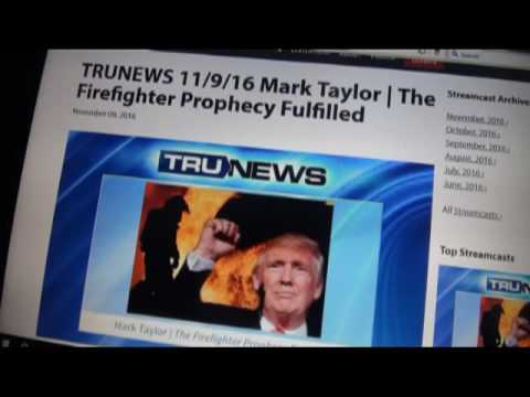 "IN 2011 USA FIRE FIGHTER ""MARK TAYLOR"" HAS A VISION THAT ""DONALD TRUMP"" BECOMES 2016 PRESIDENT!"