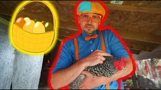 BLIPPI Farm Tour - Learn Animals | ABC 123 Moonbug Kids | Fun Cartoons | Learning Rhymes