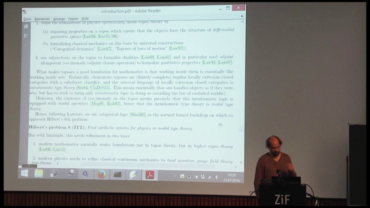 Modern Physics Formalized in Modal Homotopy Type Theory by Urs Schreiber
