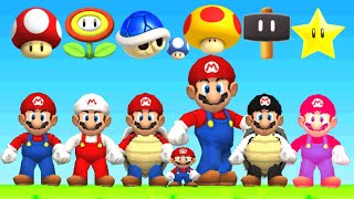 New Super Mario Bros DS HD - All Power-Ups