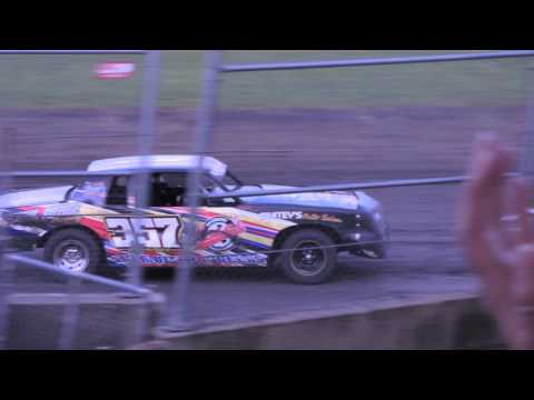 IMCA Hobby Stock Feature from Benton County Speedway in Vinton, Iowa on April 24th, 2016