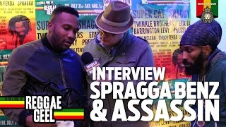 Duo Interview: Assassin & Spragga Benz at Reggae Geel 2015