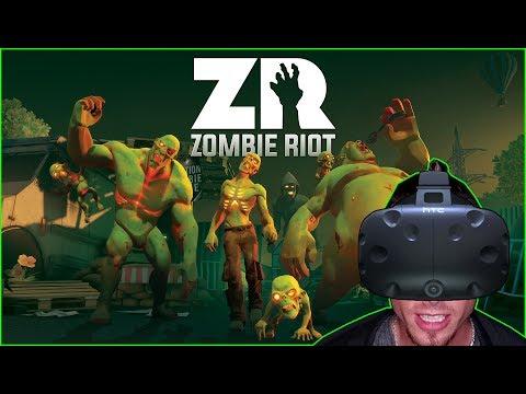 CARTOON WALKING DEAD ► ZOMBIE RIOT VR :: HTC VIVE