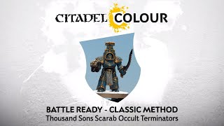 How to Paint: Battle Ready Thousand Sons Scarab Occult Terminators  – Classic Method