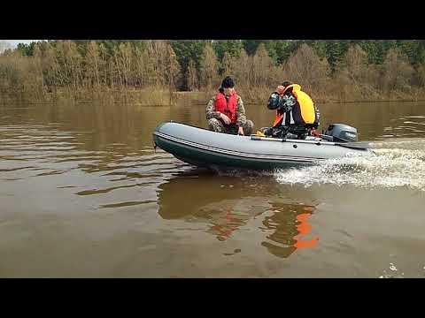 Китайский лодочный мотор ямабиси 4т. По р. Иня