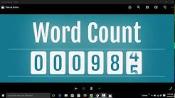 SEO word count tool with extensions
