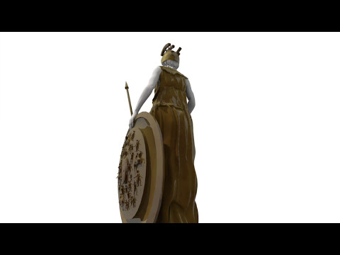 The Interactive book of the Parthenon - The Gold And Ivory Statue Of the Virgin Goddess Athena.