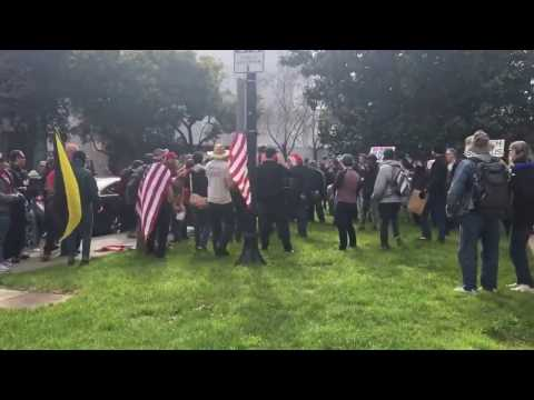 The actual March4Trump in Berkeley, California