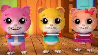 tres pequeños gatitos canciones infantiles gatitos rimas para niños rimas de bebé 3 Little Kittens
