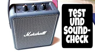 Marshall Stockwell 2 Test und Soundcheck