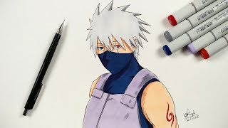 How To Draw Kakashi ANBU - Step By Step (Tutorial) - Naruto Shippuden