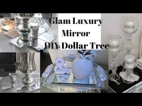 Glam DIY BEST Mirror Decor Ideas Dollar Tree 2018