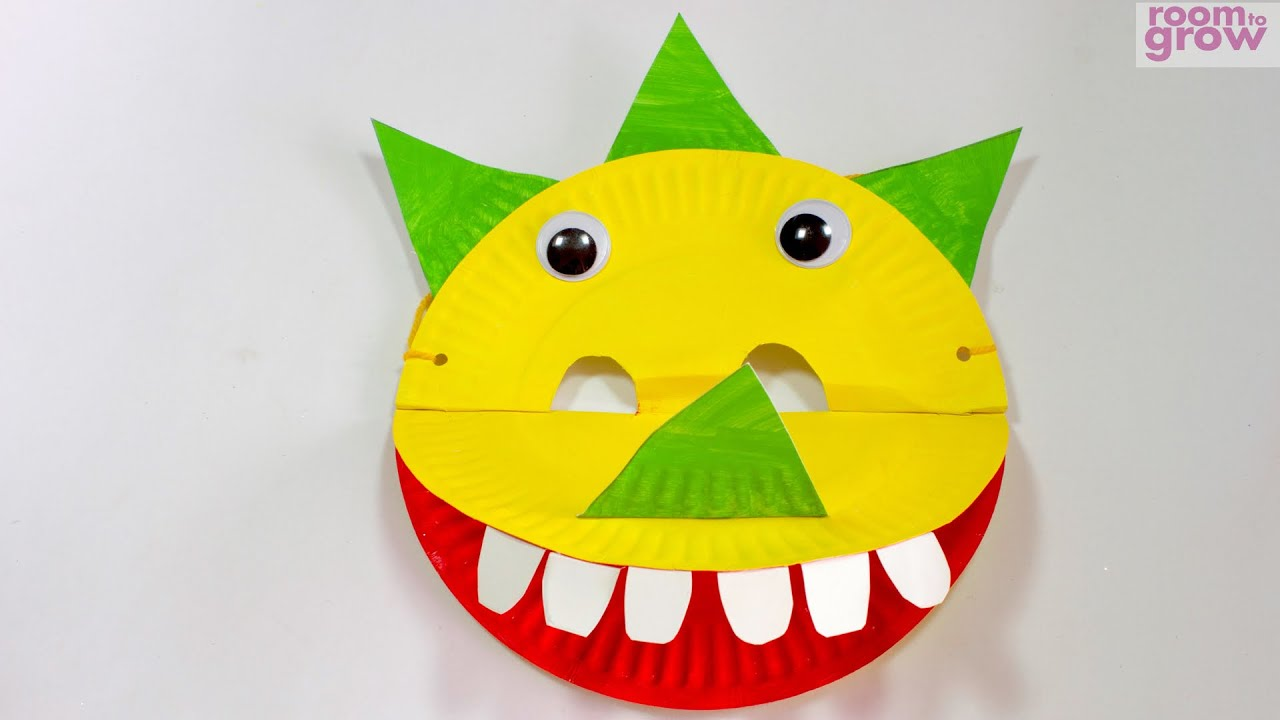 & Dinosaur Mask made out of Paper Plates - YouTube