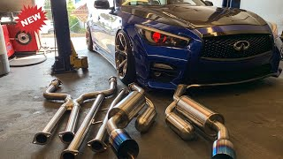 new ark grip exhaust install on my q50s