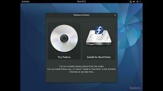 Fedora 25 Beta (Workstation) - Installation - Demo