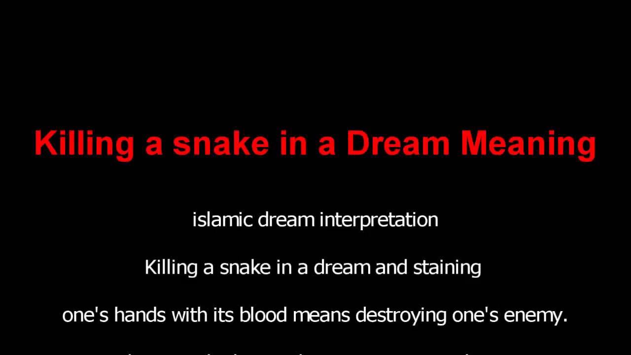 Killing A Snake Dream Meaning Islamic Interpretation Youtube