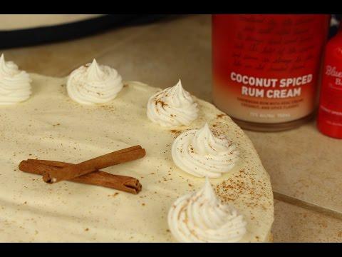 Baking With Rum: Boozy Eggnog Cheesecake