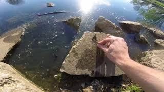 Magnet Fishing At Constitution Park In Louisville, Ohio
