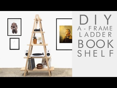 DIY A-Frame Ladder Bookshelf | Modern Builds | EP. 62