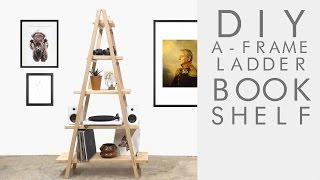 This simple, modern ladder shelf is an awesome weekend project for makers at just about any skill level. If you plan on building this