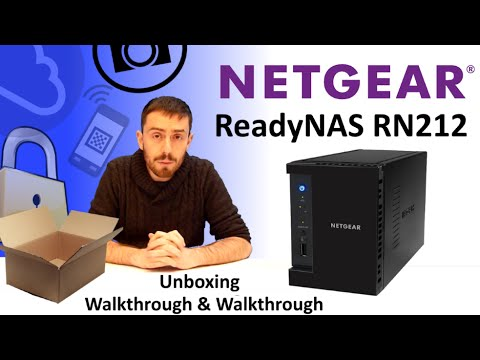 The Netgear ReadyNAS RN212 NAS Unboxing, Walkthrough and Talkthough with SPAN.COM