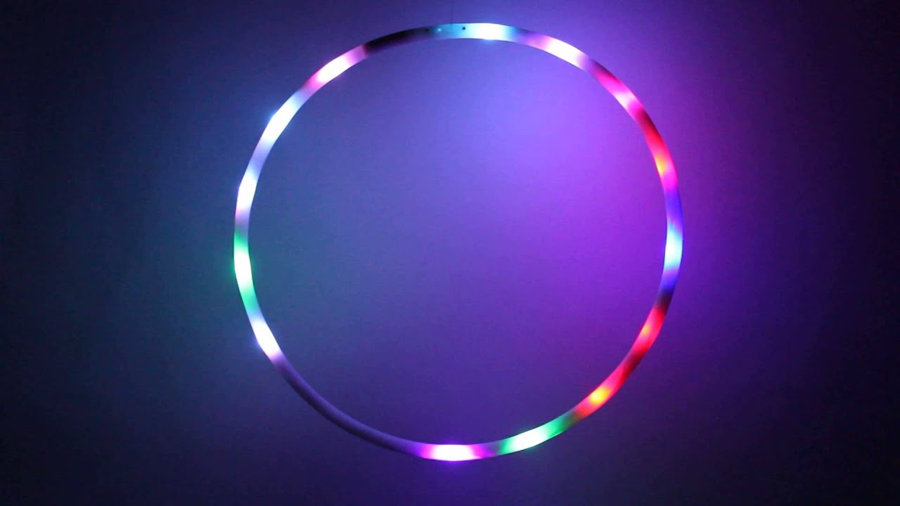Hoopomania Mini LED Hula Hoop mit 16 Leuchten und Durchmesser 60cm ...