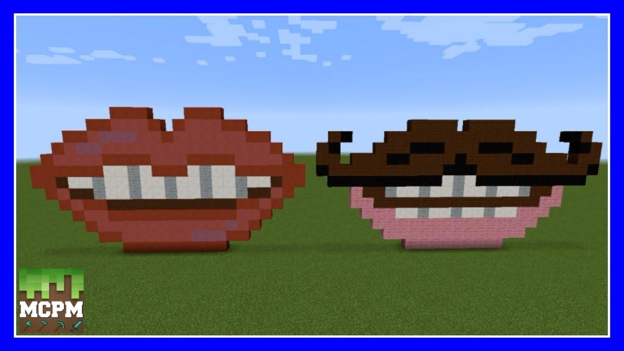 HOW TO BUILD VALENTINE LIPS PIXEL ART IN MINECRAFT YouTube - Minecraft nutzliche spielerkopfe