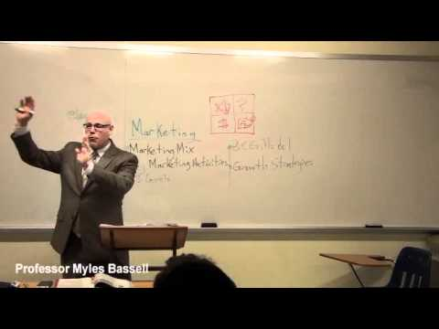 Marketing Basics : Prof Myles Bassell