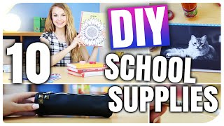 10 DIY IDEEN für BACK TO SCHOOL | TUMBLR inspiriert | DIY SCHOOL SUPPLIES | XLAETA