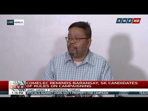 WATCH: Comelec gives updates on barangay, SK polls | 4 May 2018