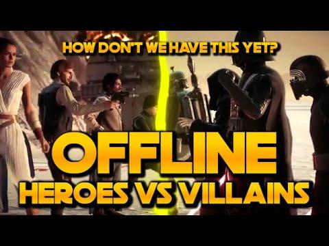 Download OFFLINE Heroes vs Villains - STAR WARS BATTLEFRONT 2