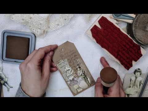 DIY How to decorate paper tags with ephemera - Tutorial FOR BEGINNERS