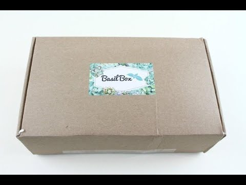BasilBox May 2018 Gardening Subscription Box Unboxing + Coupon #basilbox