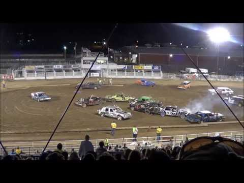 Wyoming State Fair Demolition Derby - 7th/Final Heat 2013-8-10