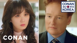 "Conan makes a cameo on ""One More Happy Ending"" but absolutely butchers his lines to co-star Jang Nara. More CONAN @ http://teamcoco.com/video Team ..."