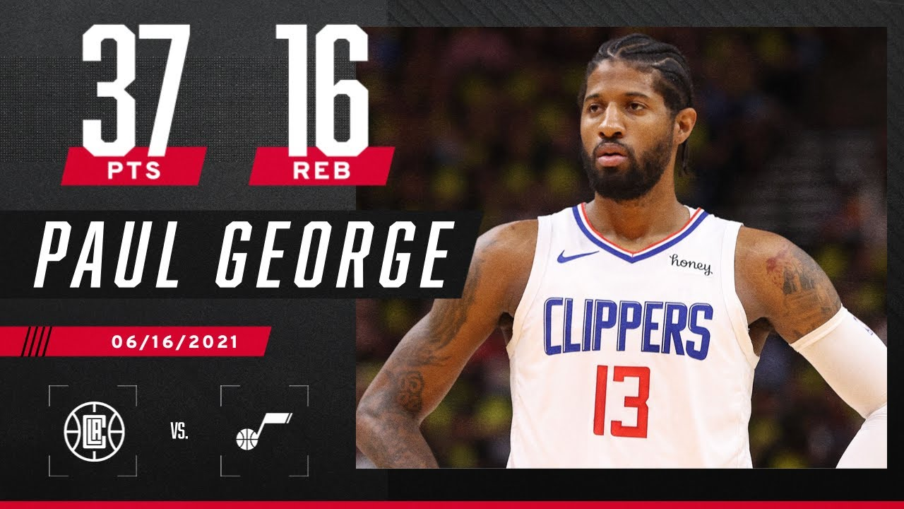 Paul George unleashes 'Playoff P' in Clippers' Game 5 win over Jazz   2021 NBA Playoffs