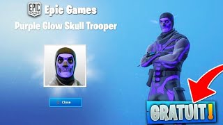 "*TUTO* AVOIR LE SKIN ""SKULL VIOLET"" GRATUITEMENT ! GLITCH SUR FORTNITE {PS4/XBOX ONE/PC/SWITCH}"