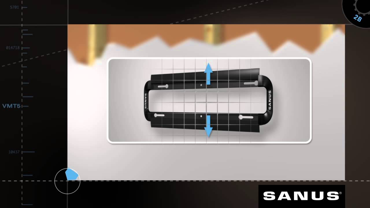 How To Install Your Sanus Vmt5 Tv Mount Youtube