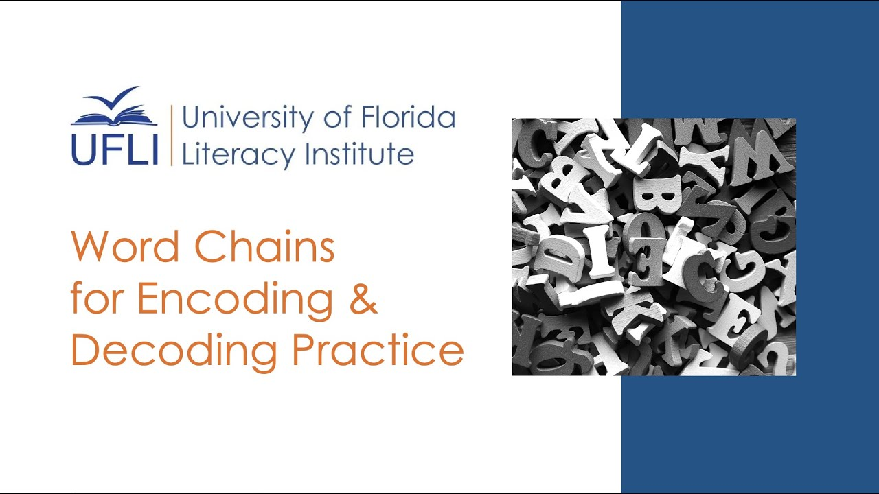 UFLI Word Chains for Decoding and Encoding Practice