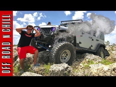 Jeep Wrangler Destroys RCV Axle , Jeep Wrangler Extreme Off Road
