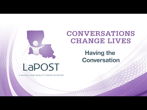 Conversations Change Lives: 3) Having The Conversation