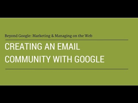 Creating an Email Community With Google (Google Groups)