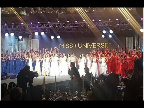 Miss Universe 2016/2017 - Gala Auction Night (Red, Blue and White Evening Dress) - FULL