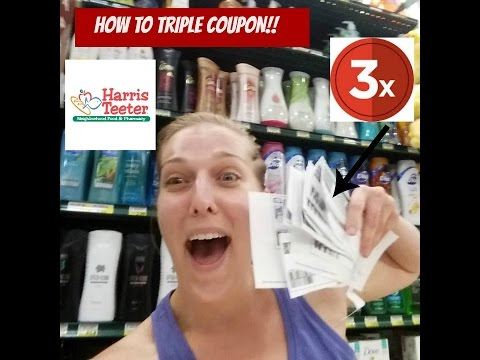 How to Triple Coupon at Harris Teeter!