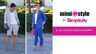 Mimi G Style For Simplicity, Pattern 1167 Tutorial. View B And C, Shorts Or Pants.